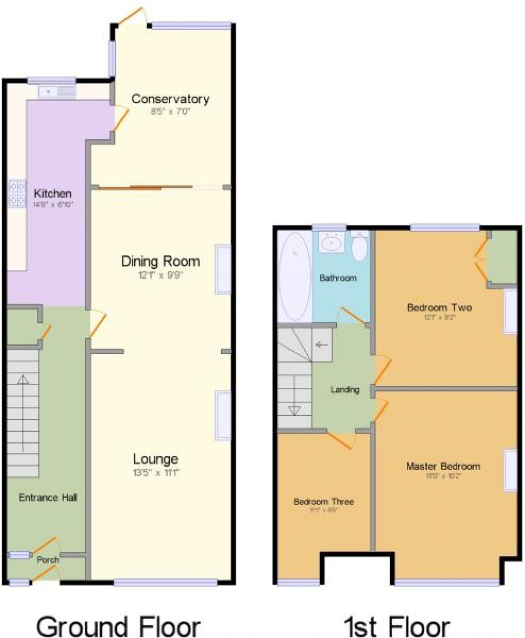 Floorplans For Aviemore Way, Beckenham