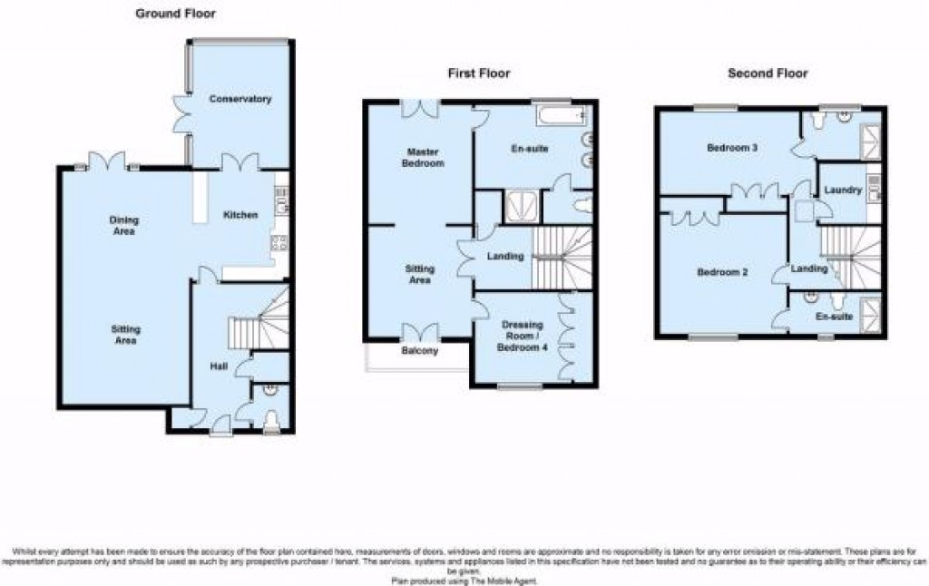 Floorplans For Waterside Avenue, Beckenham