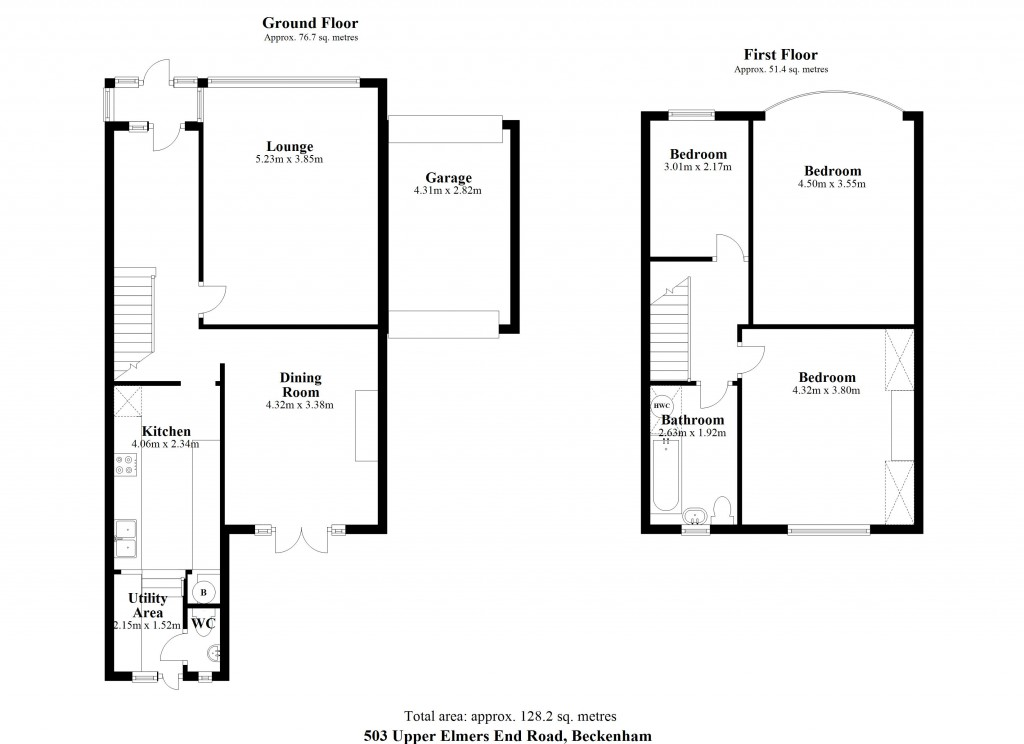 Floorplans For Upper Elmers End Road, Beckenham
