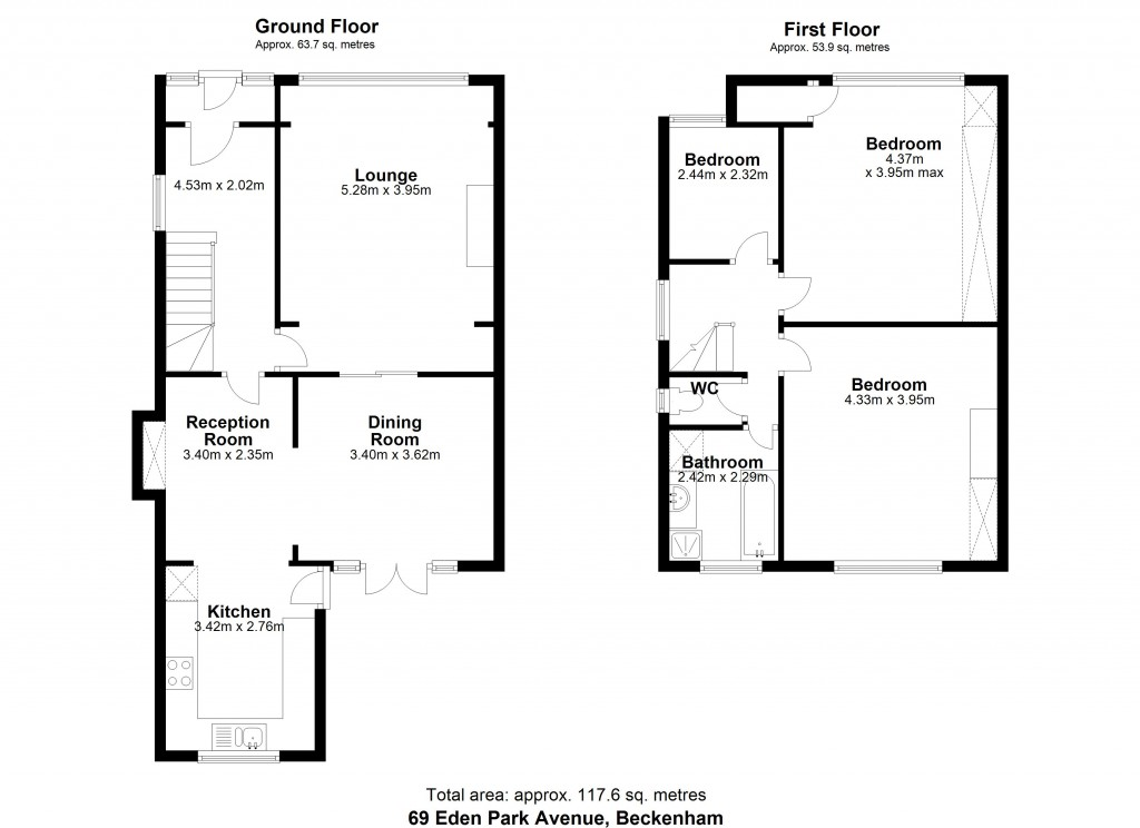 Floorplans For Eden Park Avenue, Beckenham