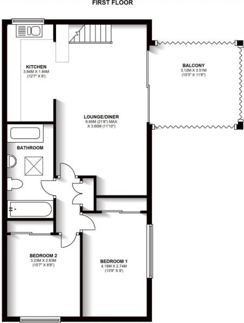 Floorplans For Markham Court, Regency Walk, Croydon