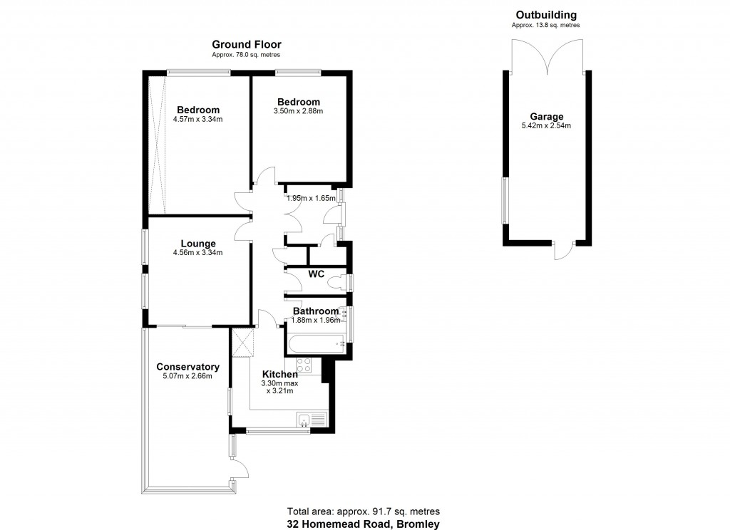 Floorplans For Homemead Road, Bromley
