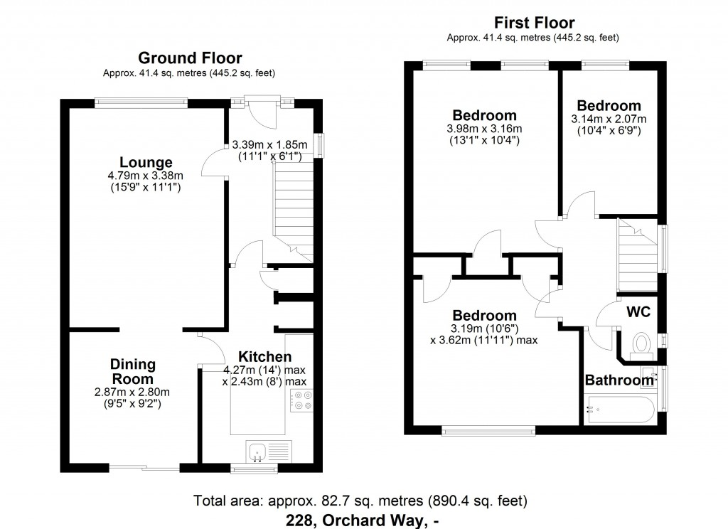 Floorplans For Orchard Way, Beckenham